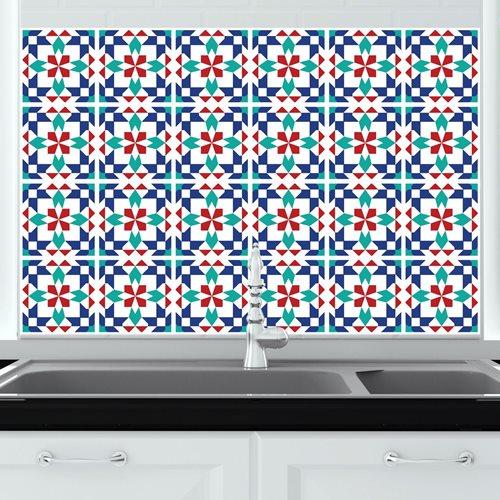 Walplus Marrakech - Wall Sticker/Tile Sticker - 10x10 cm - 24 pieces