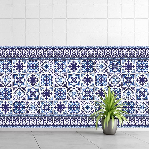 Walplus Granada - Wall Sticker/Tile Sticker - 10x10 cm - 24 pieces