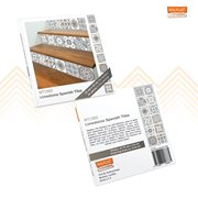Walplus Spanish Limestone - Wall Sticker/Stair Sticker - 15x15 cm - 24 pieces