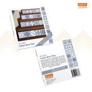 Walplus Lisbon - Wall Sticker/Stair Sticker - Blue - 15x15 cm - 24 pieces