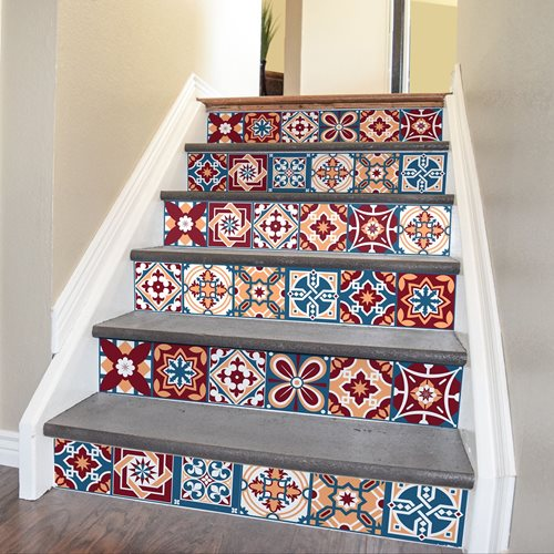Walplus Westminster - Wall Sticker/Stair Sticker - 15x15 cm - 24 pieces