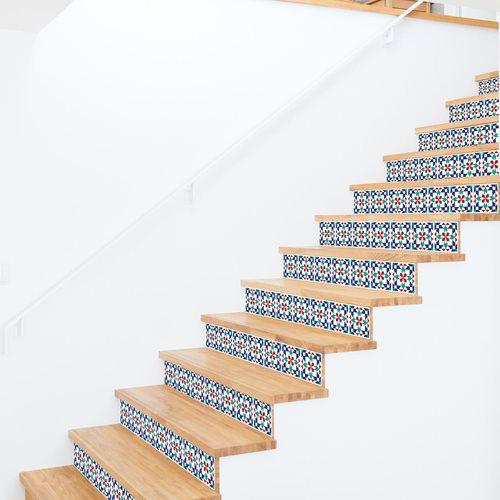 Walplus Marrakech - Wandaufkleber/Treppenaufkleber - 15x15 cm - 24 Stücke