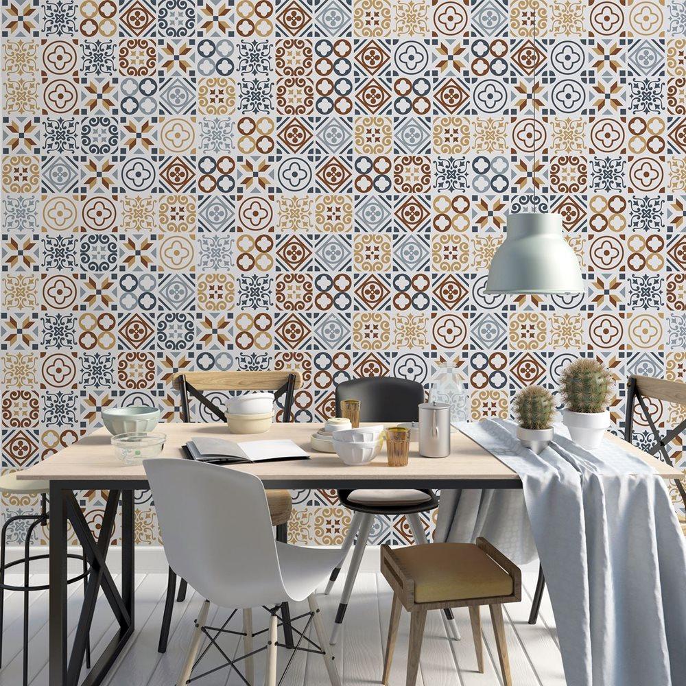 Walplus Azulejo - Wall Sticker/Tile Sticker - 20x20 cm - 12 pieces