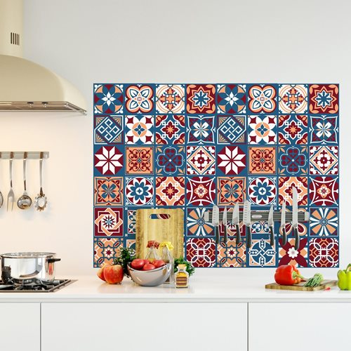 Walplus Westminster - Wall Sticker/Tile Sticker - 20x20 cm - 12 pieces