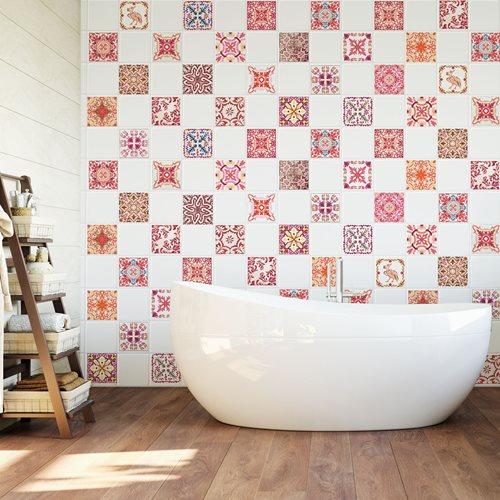 Walplus Moroccan Mosaic - Wall Sticker/Tile Sticker - 10x10 cm - 24 pieces
