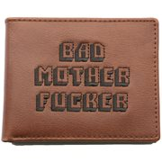 United Entertainment Original Bad Mother Fucker Wallet - With Coin Pocket and Driver License Card - Brown