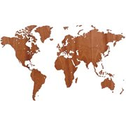 MiMi Innovations Exclusive Wooden World Map - Wall Decoration - 130x78 cm/51.2x30.8 inch - Sapele
