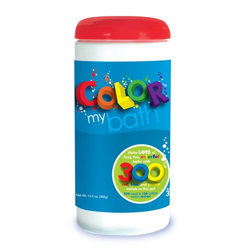 Toysmith Color My Bath - Fizzy Bath Tablets - Color Changing - 300 Pieces
