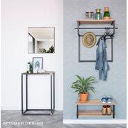 Spinder Design Donna 2 Spiegel Vierkant 60x60x5 - Zwart