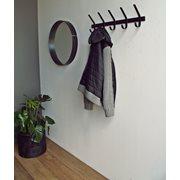 Spinder Design Dexter Coat rack with 5 Hooks - Black