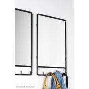 Spinder Design Clint Spiegel met 4 Haken 60x50x6 - Blacksmith