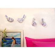 Walplus Spanish Birds - Wall Decoration - White/Blue