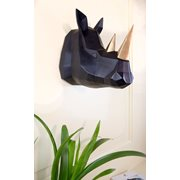 Walplus Rhino - Wall Decoration - Geometric - Black/Gold