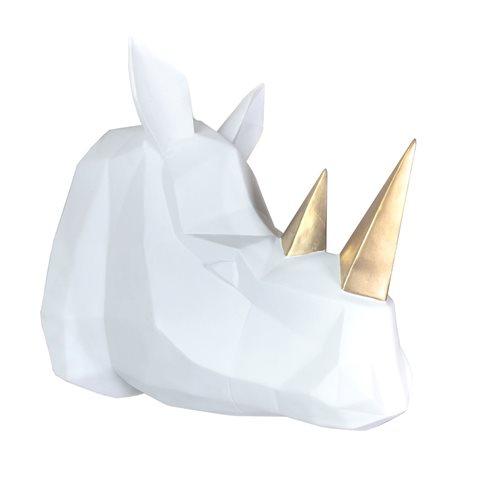 Walplus Rhino - Wanddekoration - Geometrisch - Weiß/Gold