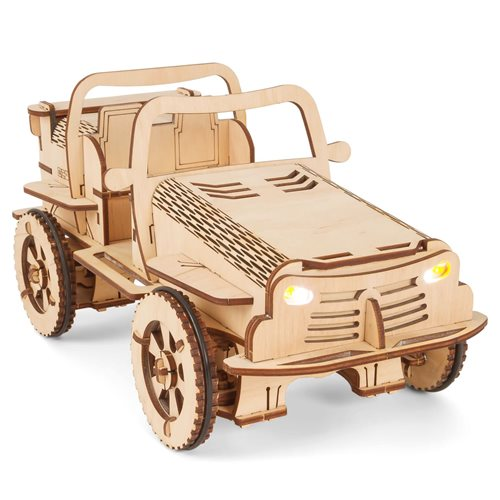 EcoBot Buggy - Wooden Construction Kit - Bluetooth Controlled - Android