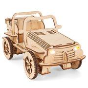 EcoBot Buggy - Modelbouwpakket - Houten Constructie Kit - Bluetooth Bestuurbaar - iOS
