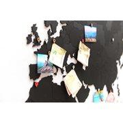 MiMi Innovations Luxury Holz Weltkarte - True Puzzle - 150x90 cm/59.1x35.4 Inch - Schwarz