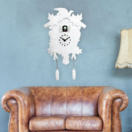 Walplus Cuckoo - Wall Clock - with Pendulum - White