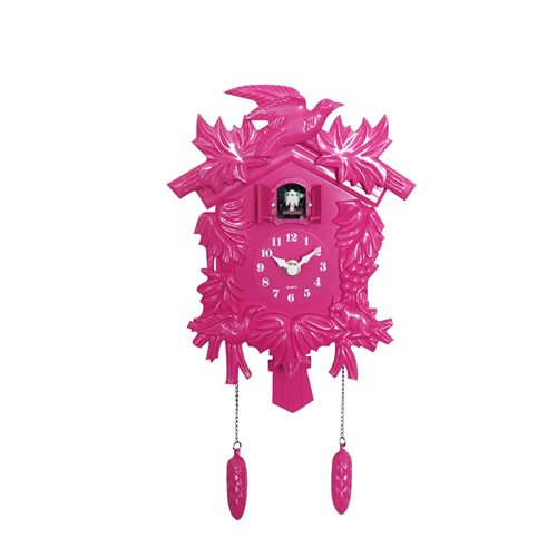 Walplus Cuckoo - Wall Clock - with Pendulum - Pink