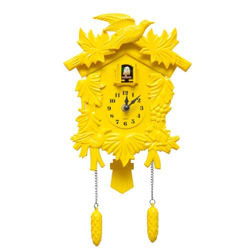 Walplus Cuckoo - Wall Clock - with Pendulum - Yellow