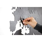 MiMi Innovations Giant Wooden World Map - Wall Decoration - 280x170 cm/110.2x66.9 inch - Black