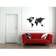 MiMi Innovations Luxury Wooden World Map - Wall Decoration - True Puzzle - 100x60 cm/39.4x23.6 inch - Black