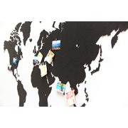 MiMi Innovations Luxe Houten Wereldkaart - Muurdecoratie - True Puzzel - 150x90 cm/59.1x35.4 inch - Zwart