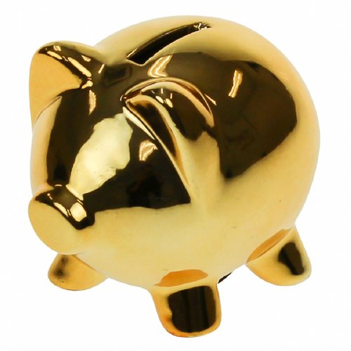 United Entertainment Piggy Money Bank - Gold