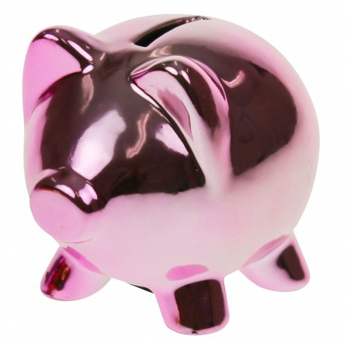 United Entertainment Piggy Money Bank - Light Pink