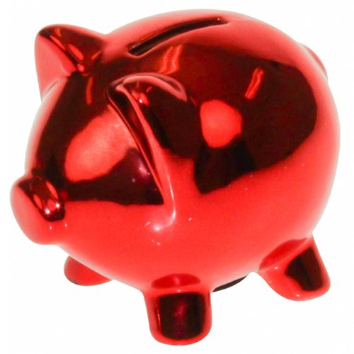 United Entertainment Piggy Money Bank - Red