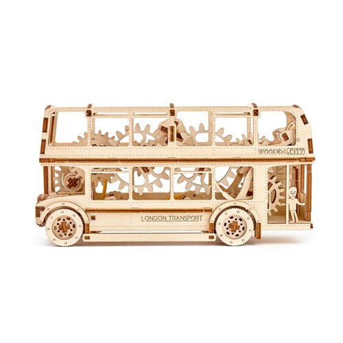 Wooden City London Bus - Wooden Model Kit