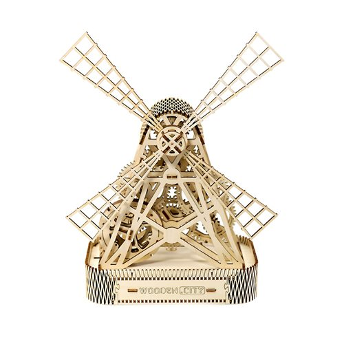 Wooden City Mill - Wooden Model Kit