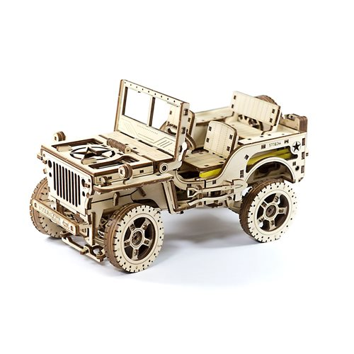 Wooden City 4x4 Jeep - Wooden Model Kit