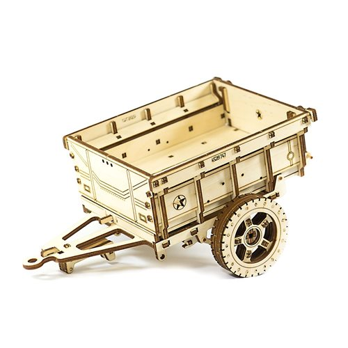 Wooden City Trailer for 4x4 Jeep - Wooden Model Kit