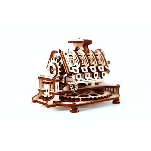 Wooden City V8 Engine - Wooden Model Kit
