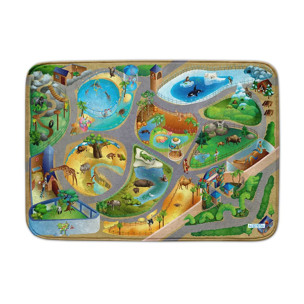ACHOKA Play mat Zoo - Ultra Soft Connect