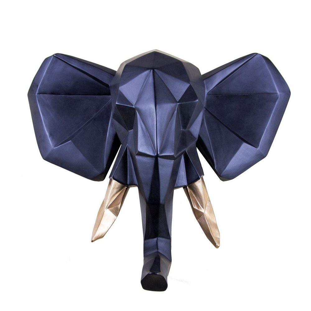 Walplus Elephant - Wall Decoration - Geometric - Black/Gold