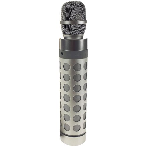 United Entertainment Draadloze Karaoke Microfoon - Bluetooth Speaker - Zilver