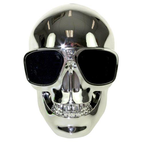 United Entertainment Skull Draadloze Bluetooth Speaker - Zilver