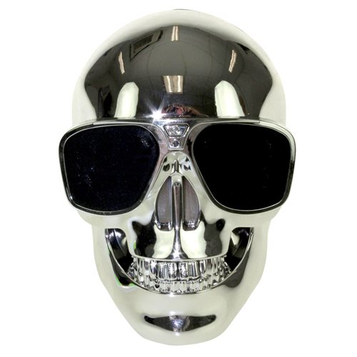 United Entertainment Skull Wireless Bluetooth Speaker - Silver