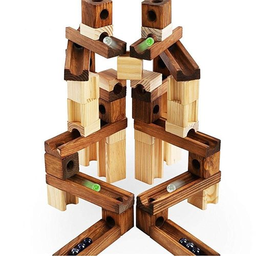 United Entertainment Wooden Building Blocks - Marble Run - 60 pcs
