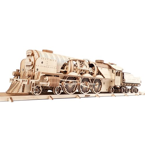 Ugears Holzbausatz - V-Express Dampfzug mit Tender