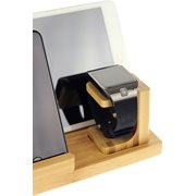 United Entertainment USB Charging Station/Stand for Telephone, iPad and Watch - Bamboo