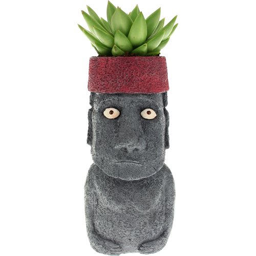 Rotary Hero Flower Pot - Moai