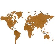 MiMi Innovations Luxury Wooden World Map - Wall Decoration - 180x108 cm/70.9x42.5 inch - Brown