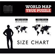 MiMi Innovations Luxury Holz Weltkarte - Wanddekoration - True Puzzle - 100x60 cm/39.4x23.6 Inch - Base
