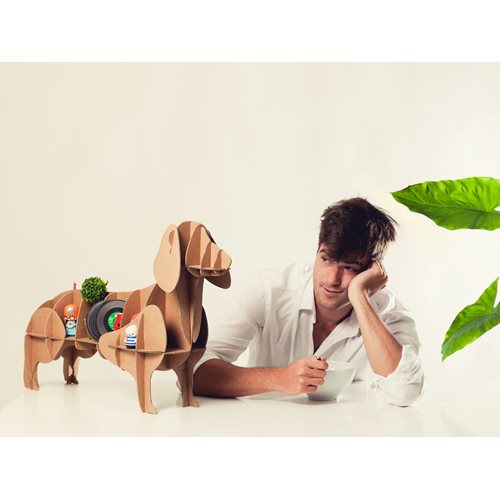 Milimetrado - Dachshund Cardboard Dog - Decorative Rack