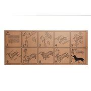 Milimetrado - Dackel Papphund - Dekoratives Bild oder Figur