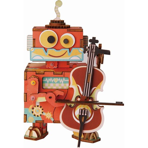 Robotime Little Performer AMD53 - Wooden Model Kit - Music Box - DIY