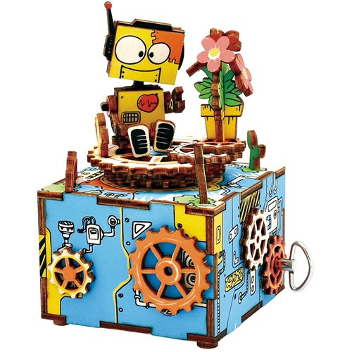 Robotime Machinarium AM305 - Wooden Model Kit - Music Box - DIY